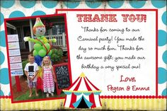 """Photo 1 of 49: carnival party / Birthday """"Peyton & Emma's Carnival Party"""" 