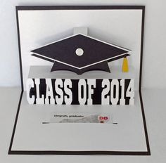 Graduation 2014 Popup Gift Card Holder by MyCasualWhimsy on Etsy, $4.99
