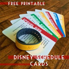 Free Printable Walt Disney World Schedule Cards