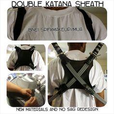 Double Katana Sheath cosplay larp by BNE1MakeupFx on Etsy