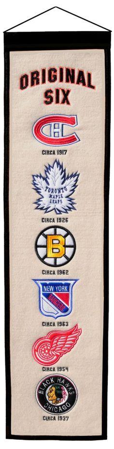Original Six Heritage Banner by Winning Streak Sports | Sports World Chicago $29.95
