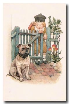 Children's Vintage Card -- by Susan Beatrice Pearse (British, 1878–1980)