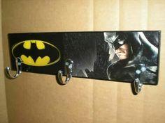 Batman coat rack Batman Sign Super Hero by FlipItCraftworks
