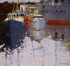 tony allain , The Inner Harbour, Penzance, Cornwall