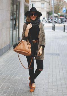 chic long cardigan fall outfit bmodish