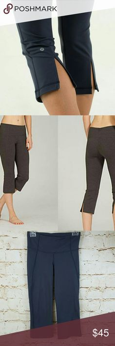 """Lululemon gather and Crow split-back leggings These high-rise crops keep you covered and comfortable full luon 21 fabric excellent condition no pilling or fading split back calf 20"""" inseam lululemon athletica Pants Track Pants & Joggers"""