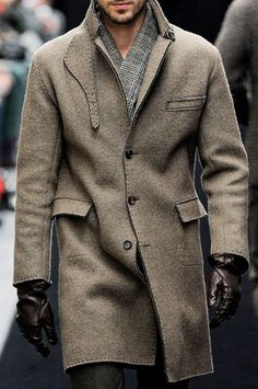 Men's Wool & Cashmere Coat. Men's Fall/Winter Gashion.