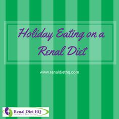 It's The Holidays! It's almost time for the big Turkey Day – Thanksgiving, and many people with kidney disease have been left to wonder what to eat on Renal Diet Menu, Low Potassium Recipes, Kidney Disease Diet, Heart Healthy Diet, Low Carb Veggies, Healthy Holiday Recipes, Clean Eating Recipes For Dinner, Cholesterol Diet, Thanksgiving