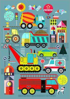 Ellen Giggenbach transportation Poster   Posterlounge