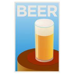 Art Deco Posters | CafePress > Wall Art > Posters > Art Deco Beer Poster