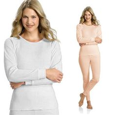 0cdd78990138d Women's 100% Cotton 2-Piece Thermal Underwear Set Women's Clothing, Two  Pieces,