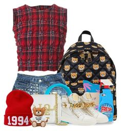 """""""Untitled #415"""" by moneybabymoneybabymoneybaby ❤ liked on Polyvore featuring Ermanno Scervino, Moschino, HUF, Beats by Dr. Dre, Justin Bieber and Giuseppe Zanotti"""