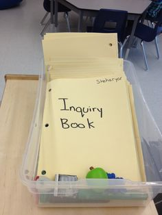 Inquiry books for each child's observations, theories and findings. Kindergarten Inquiry, Inquiry Based Learning, Learning Resources, Growth Mindset, Fun Activities, Classroom Ideas, Back To School, Projects To Try, Teaching