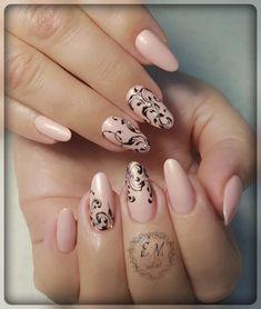 The photo - Trend Nails Wow Nails, Nude Nails, Glitter Nails, Acrylic Nails, Short Nail Manicure, Short Nails, Dream Nails, Winter Nail Art, Nail Decorations