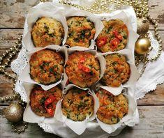 Leg Ham and Pesto Savoury Muffins - Nuttelex Christmas Ham, Savory Muffins, Caramelized Onions, Bruschetta, Cheddar Cheese, Pesto, Great Recipes, Ethnic Recipes, Food