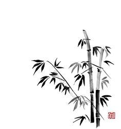 Bamboo - sumi-e by SayuriMVRomei.deviantart.com on @deviantART