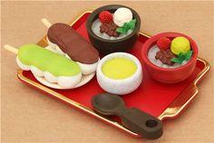 Anmitsu Shop dessert Iwako erasers set 7 pieces from Japan