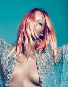 Theres Alexandersson Bon Magazine Editorial Features Changing Hues #hair trendhunter.com