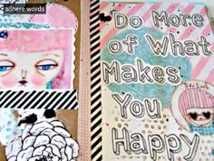 Art Journaling with Jenny & Aaron of Everyday is a Holiday class # 4 (full detailed tutorial on the blog)