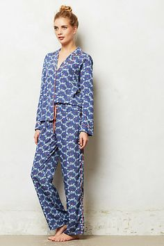Blurred Ikat Pajamas #anthropologie