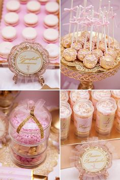 Pink and Gold Desserts