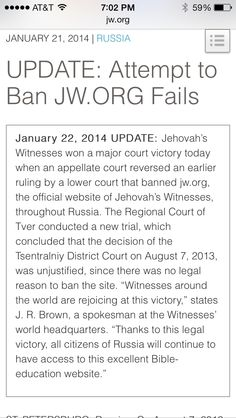 Yay!!!!!!! Thank you Jehovah for hearing our prayers and tears in behalf of our Russian brothers in these critical last days.