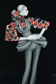 Ingenue Fashion Sketches - The Masaki Mizuno 'Paper Dolls' Series Features Avant-Garde Gamines (GALLERY)