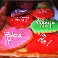 The Anti-Valentines Day cookies at Alliance Bakery in Chicago
