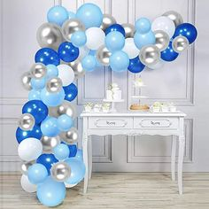 Amazon.com : adult balloon garland Water Birthday, Summer Birthday, Balloon Garland, Balloons, Birthdays, Party Ideas, Amazon, Blue, Color