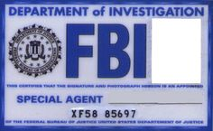 Faux FBI agent badge fir costume & Cosplay. #xfiles