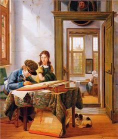 The young draughtsman - Abraham van Strij