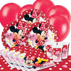 Minnie Mouse Polka Dots Party Supplies with the world famous Disney character Minnie Mouse.  sc 1 st  Pinterest & minnie mouse birthday party ideas - Google Search | Kiddos babies ...