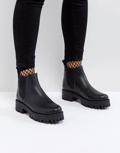 8d62fe5f6ab75b STEVE MADDEN BLEEKER LEATHER TRACK SOLE CHELSEA ANKLE BOOTS - BLACK.   stevemadden  shoes