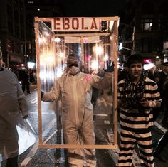 Ebola costume for Halloween in NYC
