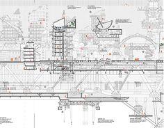 Manuel Dominguez's Nomadic City project. Architecture Graphics, Architecture Student, Architecture Drawings, Architecture Design, Computer Architecture, Autocad, Section Drawing, Architectural Section, Cad Drawing