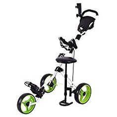 TANGKULA Golf Cart Swivel Foldable 3 Wheel Push Pull Cart Golf Trolley with Seat Scoreboard Bag Golf Push Cart *** Check this outstanding product by going to the web link at the image. (This is an affiliate link). Best Golf Cart, Golf Push Cart, Cheap Golf Carts, Golf Cart Parts, Golf Gps Watch, Golf Apps, Golf Pride Grips, Golf Trolley, Used Golf Clubs