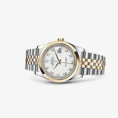 Discover the Datejust 36 watch in Yellow Rolesor - combination of 904L steel and 18 ct yellow gold on the Official Rolex Website. Model: 116203