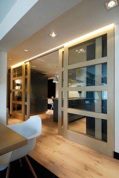 Best Modern door design ideas - Home Interior Designs Sliding Door Room Dividers, Sliding Door Design, Room Divider Doors, Sliding Doors, Kitchen Doors, Pantry Doors, Closet Doors, Style At Home, Design Case