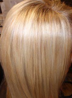 golden low lights to make a blonde sparkle!