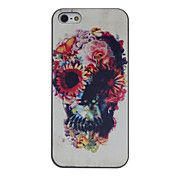 Flower Decorated Skull Coloured Drawing Patte... – USD $ 2.99