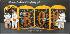 Halloween Cookie Cutter Table Decoration for the Tour De Freaks August 2016 Blog Hop, Stampin' Up!, #stampinup, created by Connie Babbert, www.inkspiredtreasures.com
