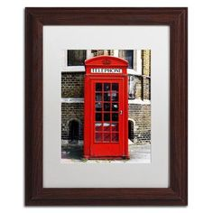 "Trademark Art ""English Phone Booth London"" by Philippe Hugonnard Framed Photographic Print Size:"
