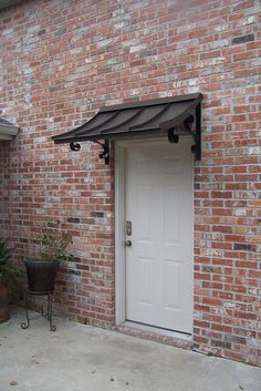 CONCAVE METAL AWNING - - CUSTOM METAL AWNINGS - Copper Awning - Metal Awning for Doors & Windows - Shipped in USA