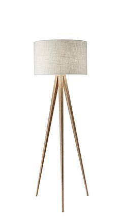 Adesso 6424-12 Director Floor Lamp, Natural