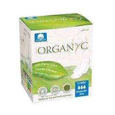 Organyc Cotton Feminine Pads - Maternity Pads With Wings - 10 Pack - 0832584