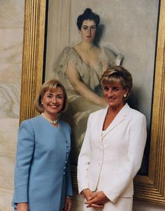 Hilary Rodham Clinton and Princess Diana, 06/18/1997. Courtesy of the William J. Clinton Presidential Library. Archives Identifier: #P53902_19.