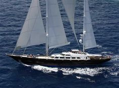 The Perini Navi sailing yacht Aquarius which has been listed been for sale through Burgess recently changed hands in a transaction involvin. Luxury Sailing Yachts, Luxury Yachts For Sale, Sailing Yachts For Sale, Yacht For Sale, Ocean Sailing, Sailing Ships, Fort Lauderdale, Classic Yachts For Sale, Buy A Yacht