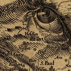Jodocus Hondius, Map of Belgium as a Lion, detail, 1611.