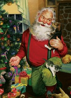 Santa's Cats and Dogs 500 Piece Puzzle « Game Searches