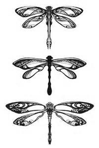 dragonfly: the symbol of transformation, adaptability, lightness of being, and emotional connectivity.  Placed on spine/nape, lower-right stomach/hip, or shoulder blade.  Top dragonfly